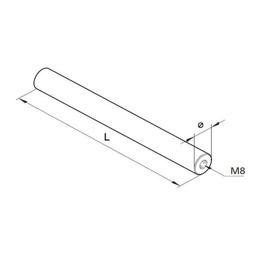 Achse Ø16, L=150mm