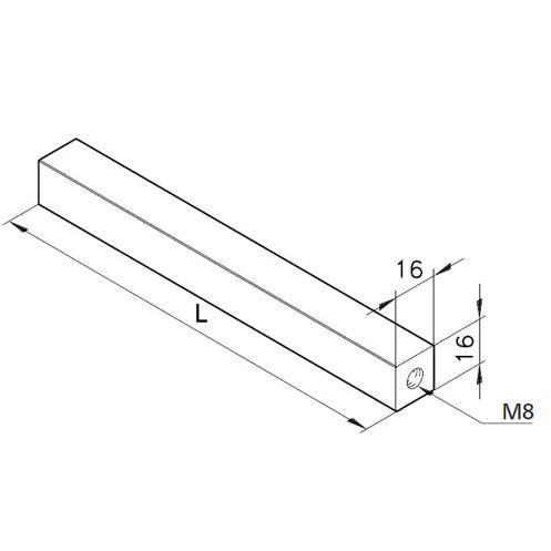 Achse 16x16, L=300mm