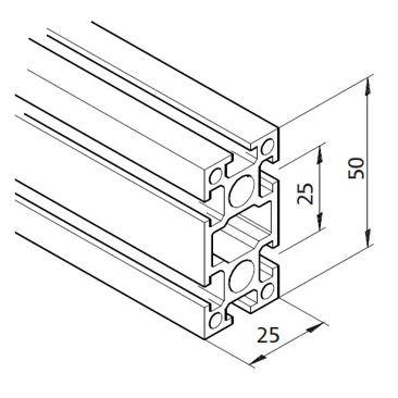 Profil mK-2025.02, L=5100mm