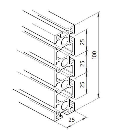 Profil mK-2025.03, L=5100mm