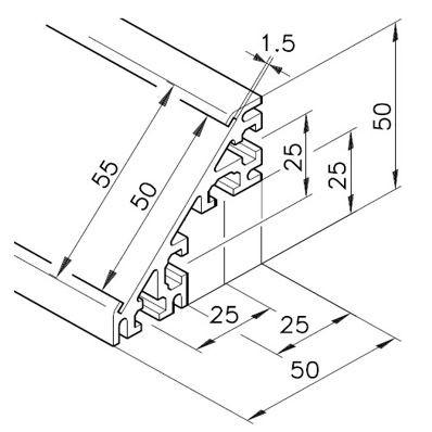 Profil mK-2025.25, L=x?x mm