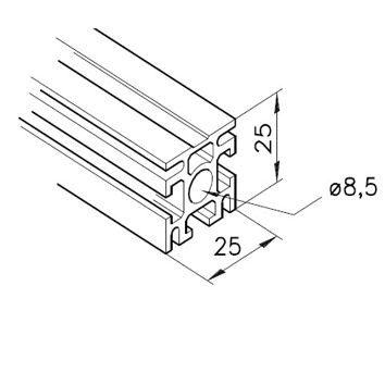 Profil mK-2025.31, L=x?x mm