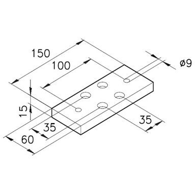 Sockelplatte 2 für Profil mK-2000 / mK-2017