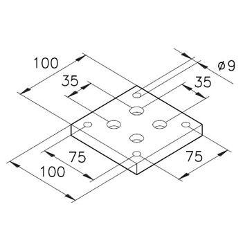 Sockelplatte 4 für Profil mK-2000 / mK-2017