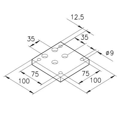 Sockelplatte 4a für Profile mK-2000 / mK-2017