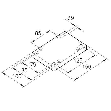 Sockelplatte 7 für Profile mK-2005 / mK-2011