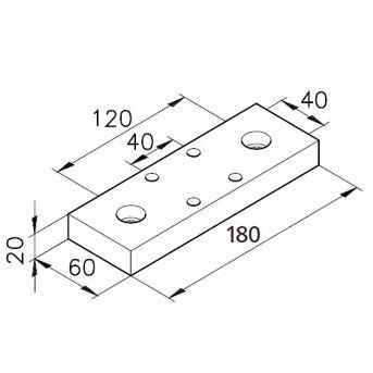 Sockelplatte 60/2 für Profil mK-2060.01