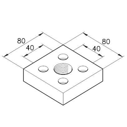 Anschlußplatte C G3/4
