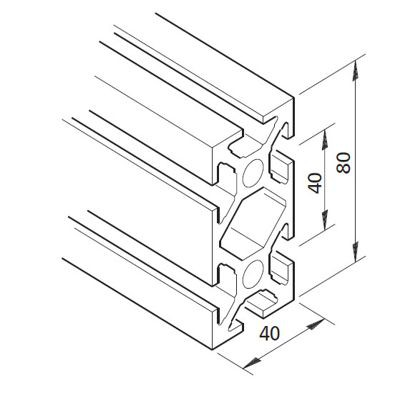 Profil mK-2040.02, L=x?x mm