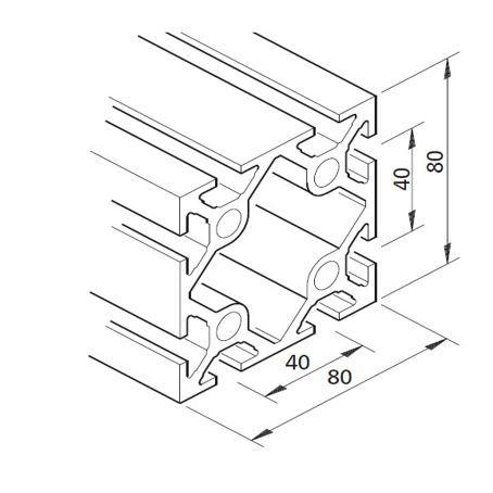 Profil mK-2040.03, L=5100mm