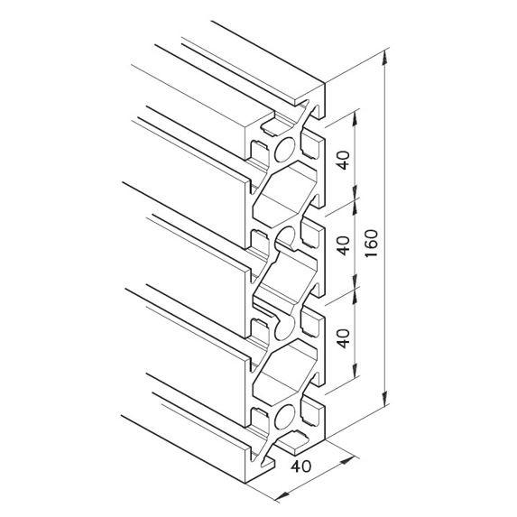 Profil mK-2040.06, L=5100mm