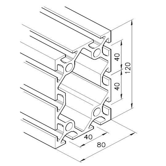 Profil mK-2040.07, L=5100mm