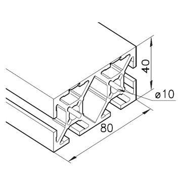 Profil mK-2040.100, L=x?x mm