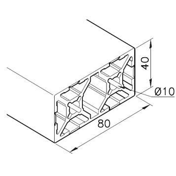 Profil mK-2040.104, L=x?x mm