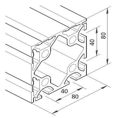 Profil mK-2040.13, L=5100mm