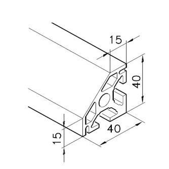 Profil mK-2040.14, L=5100mm
