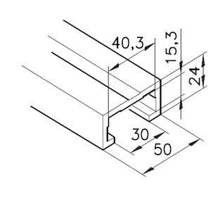 Profil mK-2040.37, L=5100mm