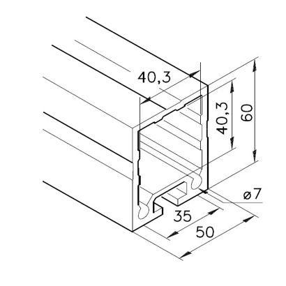 Profil mK-2040.38, L=5100mm