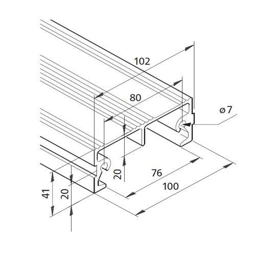 Profil mK-2040.68, L=x?x mm
