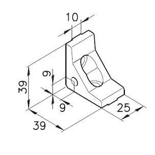 Winkelbausatz E25s