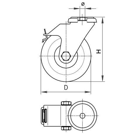 Lenkrolle LKRA VPA 101 K-11-FI