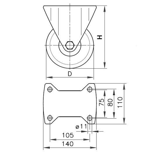 Bockrolle (B) BH-SPO 125K3