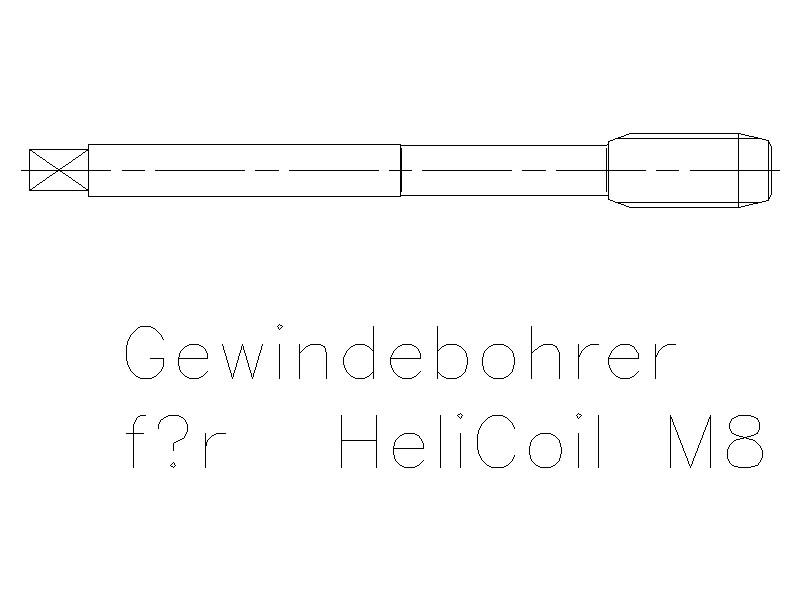 Gewindebohrer für Helicoil M8