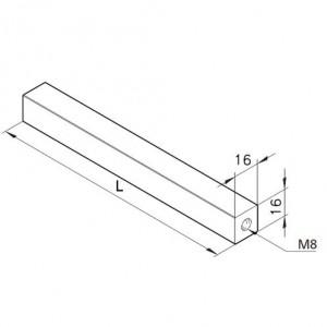 Achse 16x16, L=400mm