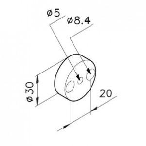 Distanzscheibe Ø30 für Kugelgelenkelemente