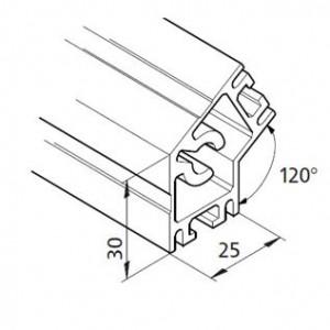 Profil mK-2025.17, L=5100mm