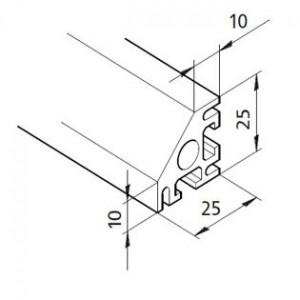 Profil mK-2025.38, L=5100mm