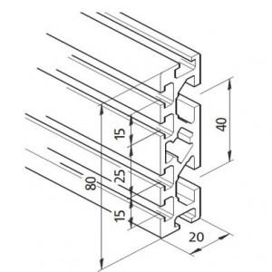Profil mK-2025.42, L=5100mm