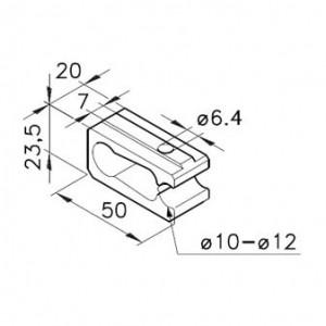 Klemme für Rundstangen Nutbreite 7mm