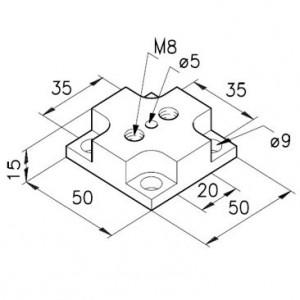 Grundplatte für Kugelgelenkelemente