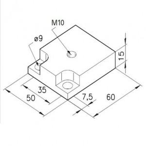 Fußplatte M10