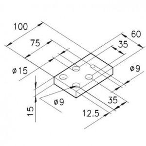 Sockelplatte 1 für Profil mK-2000 / mK-2017