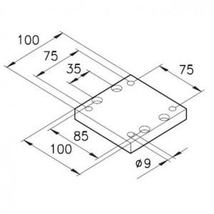 Sockelplatte 6 für Profil mK-2004