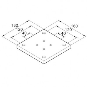 Sockelplatte 40/3 für Profil 80x80mm