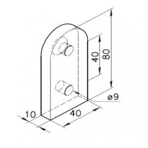 Wandbefestigung für Profil mK-2040.16