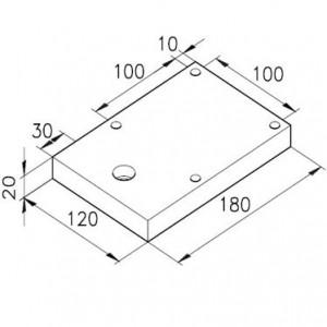 Sockelplatte 60/8 für Profil mK-2060.05