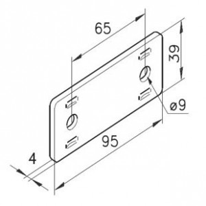 Bausatz Gerade Platte 03