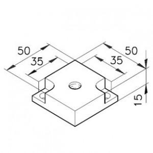 Fußplatte A M10