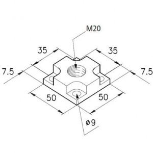Fußplatte 1 M20