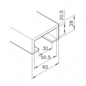Profil mK-2033, L=5100mm