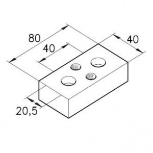 Verteilerplatte A14 G1/4