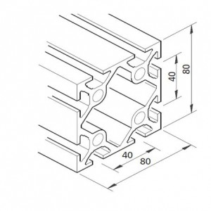 Profil mK-2040.03, L=x?x mm