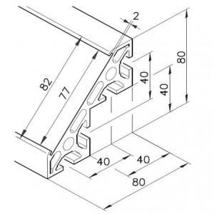 Profil mK-2040.04, L=5100mm
