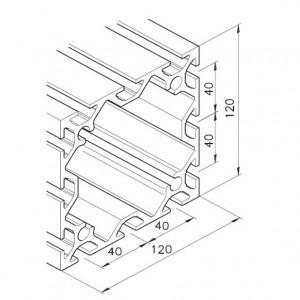 Profil mK-2040.10, L=5100mm