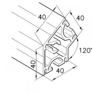 Profil mK-2040.18, L=5100mm