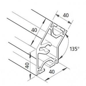 Profil mK-2040.19, L=5100mm